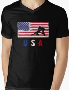 USA Judo 2016 competition wrestling judoka funny t-shirt Mens V-Neck T-Shirt