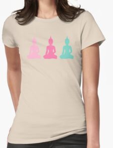 Pastel Buddhas Womens Fitted T-Shirt
