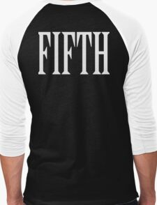 FIFTH, FIVE, NUMBER 5, TEAM SPORTS, 5, Competition, WHITE Men's Baseball ¾ T-Shirt