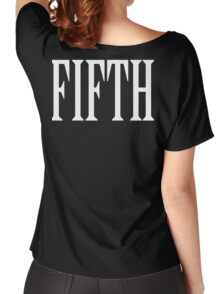 FIFTH, FIVE, NUMBER 5, TEAM SPORTS, 5, Competition, WHITE Women's Relaxed Fit T-Shirt