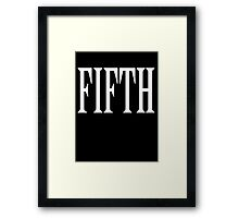FIFTH, FIVE, NUMBER 5, TEAM SPORTS, 5, Competition, WHITE Framed Print