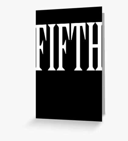 FIFTH, FIVE, NUMBER 5, TEAM SPORTS, 5, Competition, WHITE Greeting Card