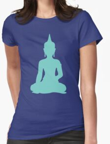 Pastel Mint Buddha Womens Fitted T-Shirt