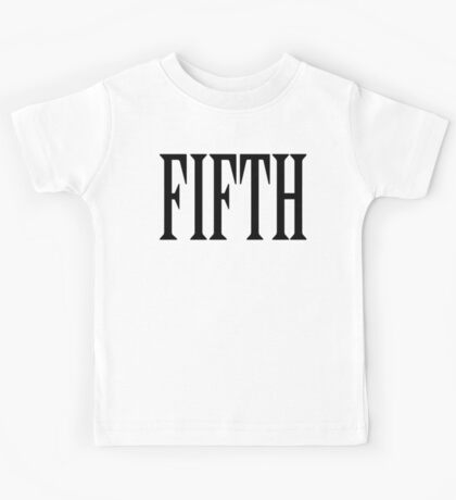 FIFTH, FIVE, NUMBER 5, TEAM SPORTS, Competition, BLACK TYPE Kids Tee
