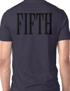 FIFTH, FIVE, NUMBER 5, TEAM SPORTS, Competition, BLACK TYPE Unisex T-Shirt