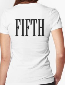 FIFTH, FIVE, NUMBER 5, TEAM SPORTS, Competition, BLACK TYPE Womens Fitted T-Shirt