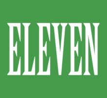 Eleven, Eleventh, 11, TEAM SPORTS NUMBER, Competition, WHITE Kids Tee
