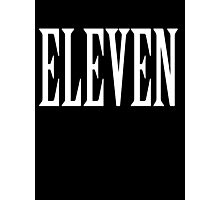 Eleven, Eleventh, 11, TEAM SPORTS NUMBER, Competition, WHITE Photographic Print