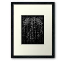 Skull Letter and Number Code Art Framed Print