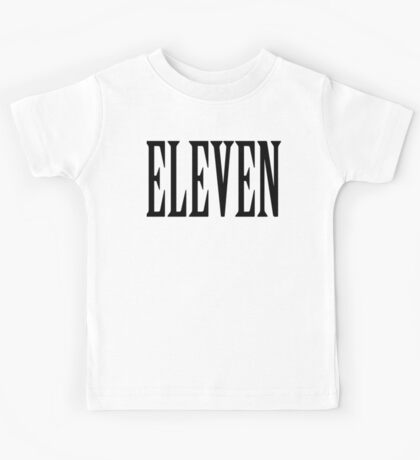 11, Eleven, Eleventh, TEAM SPORTS NUMBER, Competition, BLACK Kids Tee