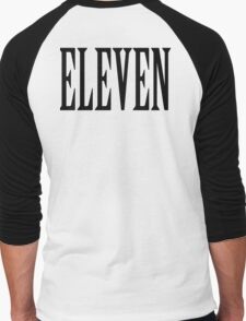 11, Eleven, Eleventh, TEAM SPORTS NUMBER, Competition, BLACK Men's Baseball ¾ T-Shirt