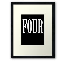 FOUR, 4, TEAM SPORTS, NUMBER 4, FOURTH, Competition, WHITE Framed Print