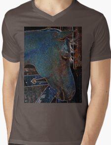 Neon Pony Mens V-Neck T-Shirt