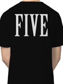 FIVE, NUMBER 5, FIFTH, TEAM SPORTS, Competition, WHITE Classic T-Shirt