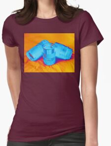 Pop Art Camera Lenses Womens Fitted T-Shirt