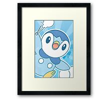 Piplup, Snowball Fight Framed Print