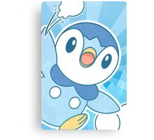 Piplup, Snowball Fight Canvas Print