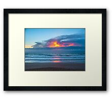 Fire in the Morning Sky Framed Print