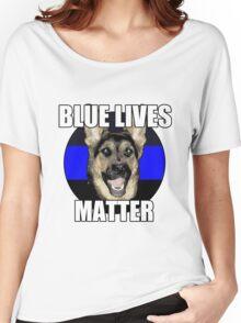 Blue Lives Matter  2 Women's Relaxed Fit T-Shirt