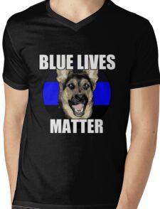 Blue Lives Matter  2 Mens V-Neck T-Shirt