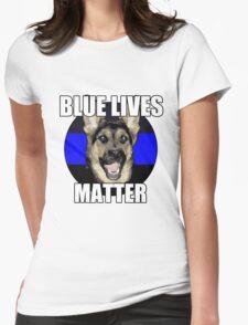 Blue Lives Matter  2 Womens Fitted T-Shirt