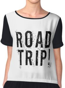 Road Trip Random Grunge Punk Holliday Chiffon Top