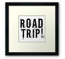 Road Trip Random Grunge Punk Holliday Framed Print