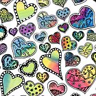 Hippie Hearts by Gingerlique