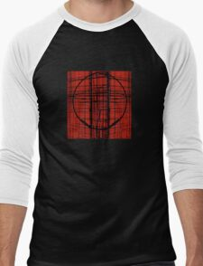 Circle Plaid Men's Baseball ¾ T-Shirt