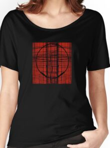 Circle Plaid Women's Relaxed Fit T-Shirt