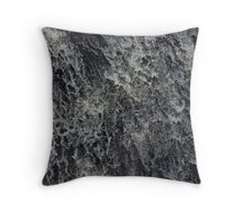 water splashes down a waterfall Throw Pillow