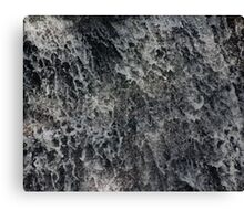water splashes down a waterfall Canvas Print