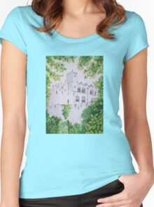 Castle Through the Trees Women's Fitted Scoop T-Shirt