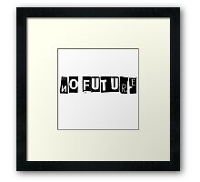 No Future Pretty Vacant The Sex Pistols Song Lyrics Framed Print