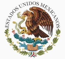 Close up of seal in the national flag of Mexico Kids Tee