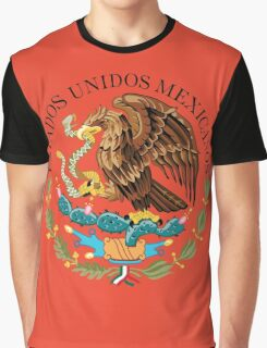 Close up of seal in the national flag of Mexico Graphic T-Shirt