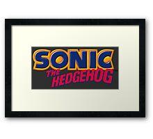 SEGA Sonic the Hedgehog LOGO Framed Print