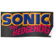 SEGA Sonic the Hedgehog LOGO Poster