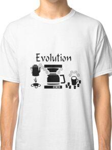 Black Coffee Machine Evolution Classic T-Shirt