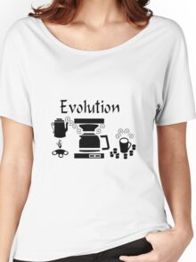 Black Coffee Machine Evolution Women's Relaxed Fit T-Shirt
