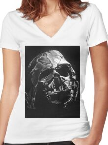 Melted Vader Women's Fitted V-Neck T-Shirt