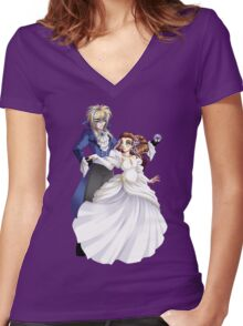 As the World Falls Down Women's Fitted V-Neck T-Shirt