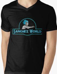NEW SANCHEZ WORLD - RICK MORTY Mens V-Neck T-Shirt