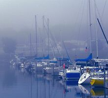 St. Ignace Harbor, Foggy Morning by bannercgtl10
