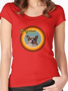 Groovy Corgstar, Baby! Women's Fitted Scoop T-Shirt