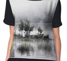 water scape Chiffon Top