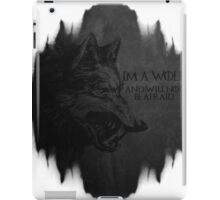 I'm a wolf iPad Case/Skin