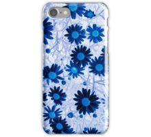 Mystical Daisies In Blue iPhone Case/Skin