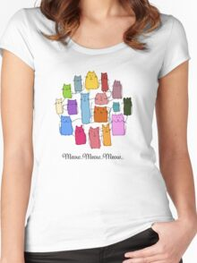 Colorful funny cats Women's Fitted Scoop T-Shirt