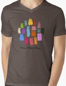 Colorful funny cats Mens V-Neck T-Shirt